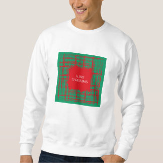 Xmas Brush Checks green Sweatshirt