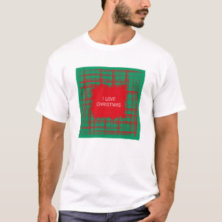Xmas Brush Checks green T-shirt