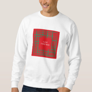 Xmas Brush Checks red Sweatshirt