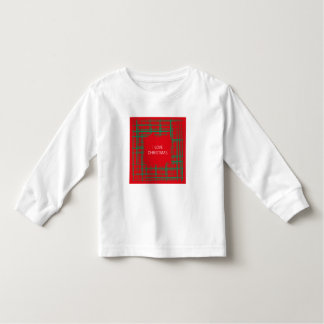 Xmas Brush Checks red Toddler Long Sleeve T-shirt