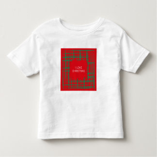 Xmas Brush Checks red Toddler T-shirt