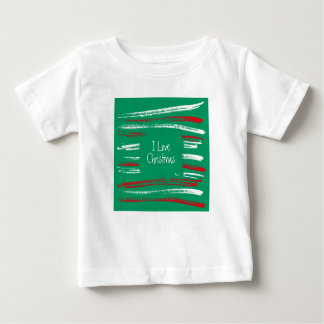 Xmas Brush Stripes green Infant T-shirt