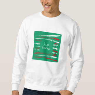 Xmas Brush Stripes green Sweatshirt