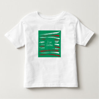 Xmas Brush Stripes green Toddler T-shirt
