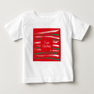 Xmas Brush Stripes red Infant T-shirt
