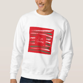 Xmas Brush Stripes red Sweatshirt