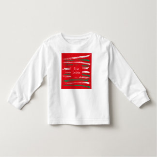 Xmas Brush Stripes red Toddler Long Sleeve T-shirt