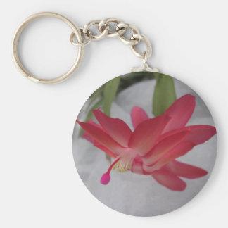 Xmas Cactus Flower Keychain