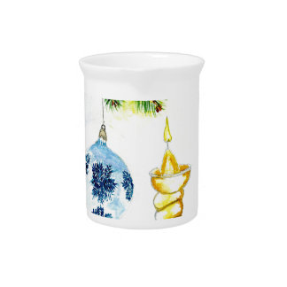 Xmas Candle Art Beverage Pitcher