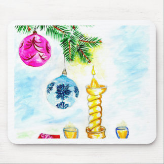 Xmas Candle Art Mouse Pad