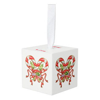 Xmas Candy 2 Cube Ornament