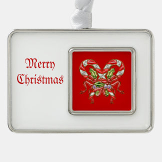 Xmas Candy 2 Silver Plated Framed Ornament