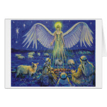 Xmas card 3. Angel and Shepherds