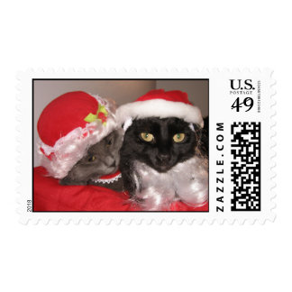 Xmas Cats Postage