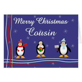 Xmas Cousin Greeting Card
