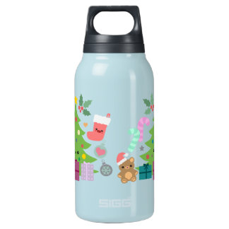 Xmas Cuties 10 Oz Insulated SIGG Thermos Water Bottle