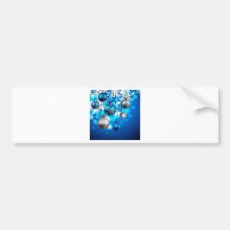 Xmas decorations bumper sticker