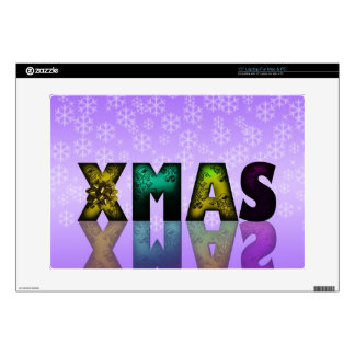 Xmas Design with Snowflakes Laptop Decal