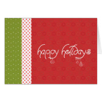 christmas, xmas, holidays, joy, december, present, gift, winter, dots, santa, tree, snow, party, Card with custom graphic design