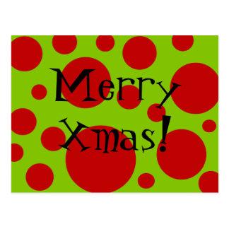 Xmas Dots Post Card