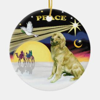 Xmas Dove - Golden Retriever Ceramic Ornament