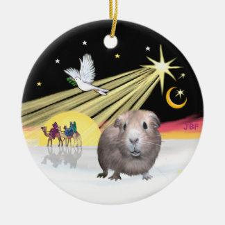 Xmas Dove - Guinea Pig #2 Ceramic Ornament