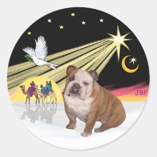 Xmas Dove (R) - English Bulldog 1 Sticker