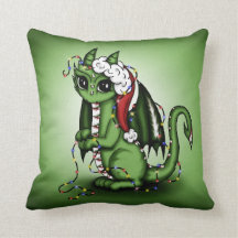 Xmas Dragon Pillow