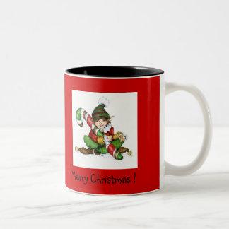 XMAS eleven and CandyCane'09, Merry Christmas! , © Two-Tone Coffee Mug