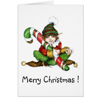 XMAS eleven and CandyCane 09 Merry Christmas Greeting Cards