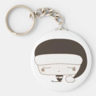 xmas elf basic round button keychain