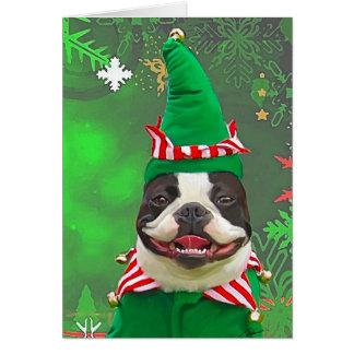 Xmas Elf Greeting Card