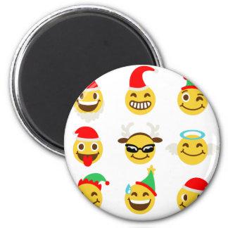 xmas emoji happy faces magnet