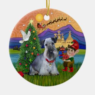 Xmas Fantasy - Cesky Terrier Ceramic Ornament