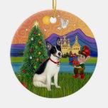 Xmas Fantasy - Rat Terrier Christmas Ornament