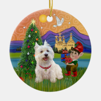 Xmas Fantasy - West Highland Terrier Christmas Tree Ornaments