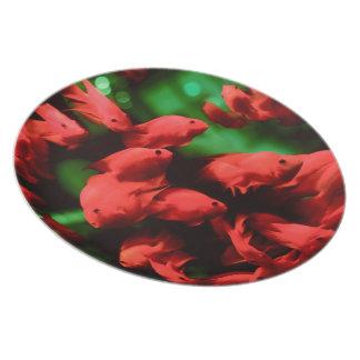 Xmas Fish Dinner Plate