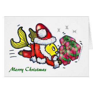 Xmas Fish - funny cute Christmas Greeting Card