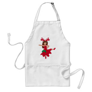 xmas flamenco dancer emoji adult apron