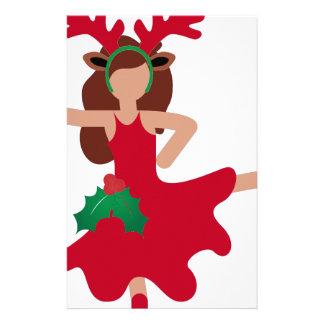 xmas flamenco dancer emoji stationery
