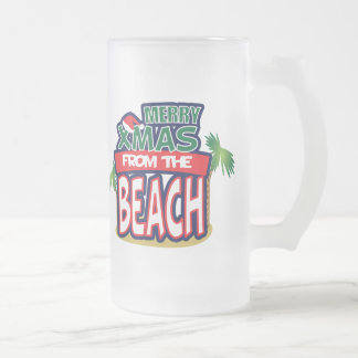 XMAS FROM THE BEACH-Frosted Beer Mug
