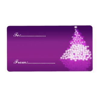 Xmas Gift Tag #2 Purple