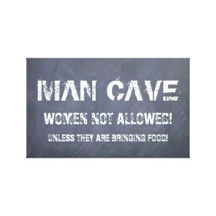 Man Cave Za : Man cave signs wrapped canvas prints zazzle