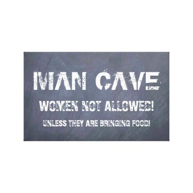 Xmas gifts for men, man cave canvas keep out signs