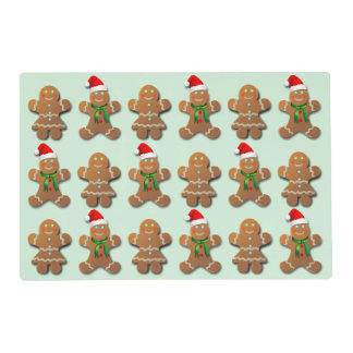 Xmas Gingerbread Cookies Placemat