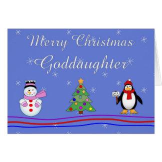 Xmas goddaughter greeting card