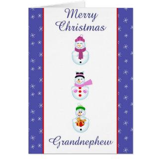 Xmas grand nephew card