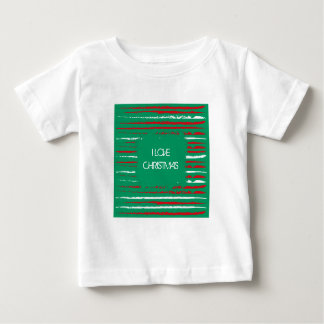 Xmas Grunge Stripes green Infant T-shirt