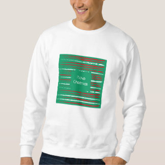 Xmas Grunge Stripes green Sweatshirt