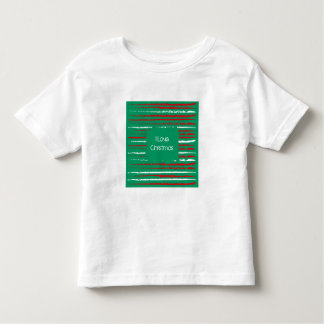 Xmas Grunge Stripes green Toddler T-shirt